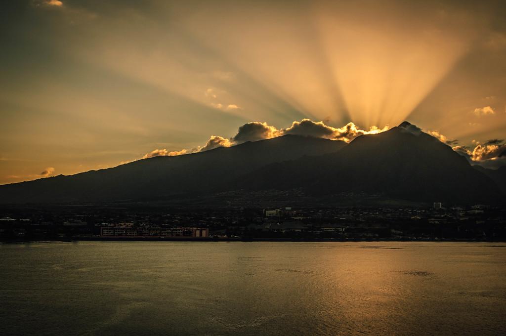 Sunsetting Over Wailuku #3