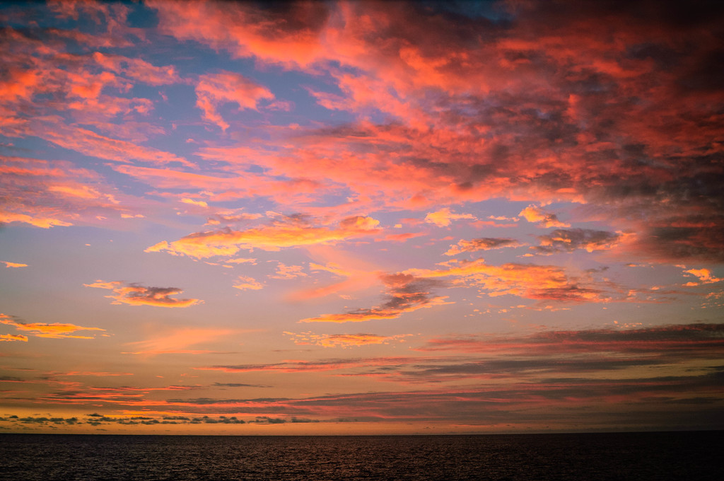 Colorful Dusk Over the Pacific