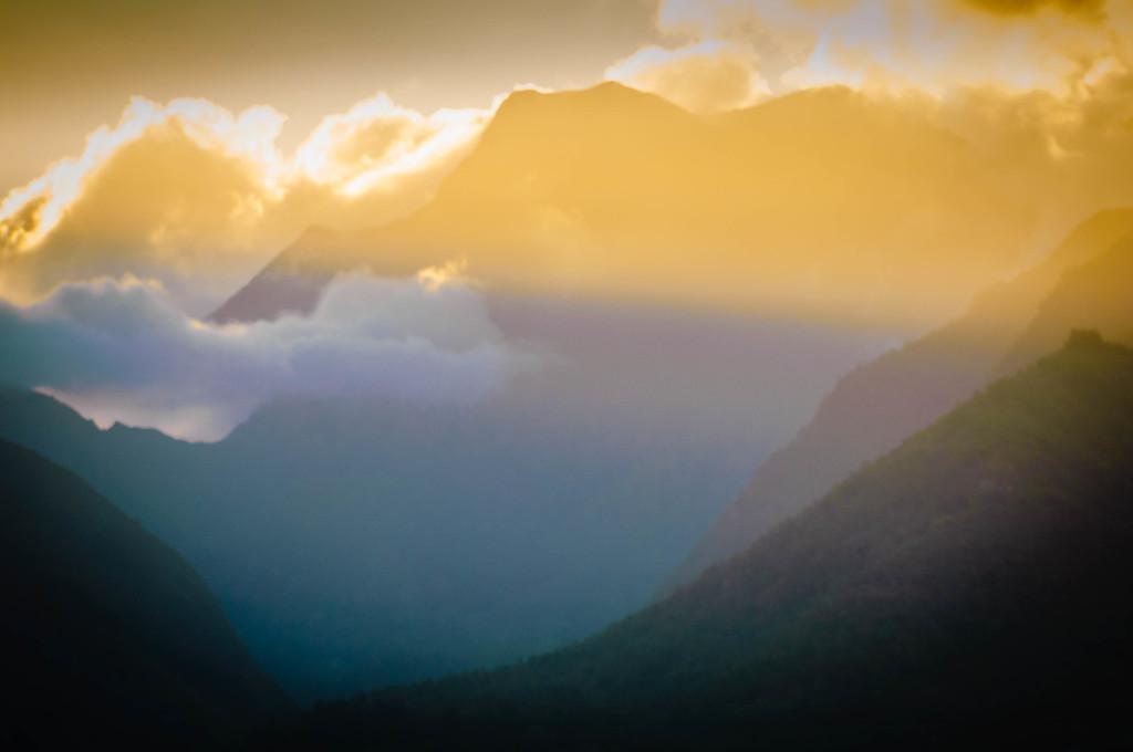 Sunsetting Over Wailuku #1