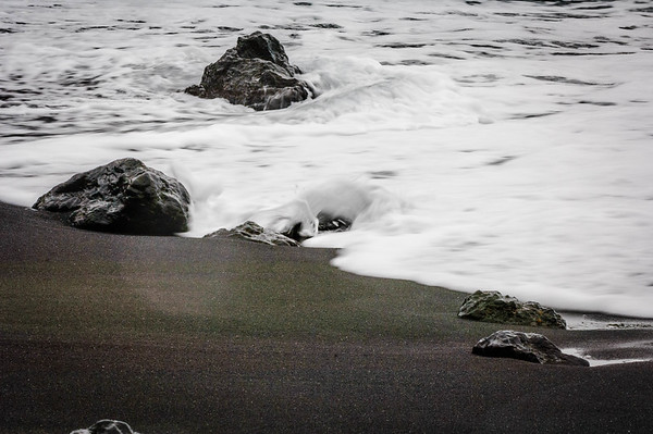 Color Photo at Black Sand Beach #1