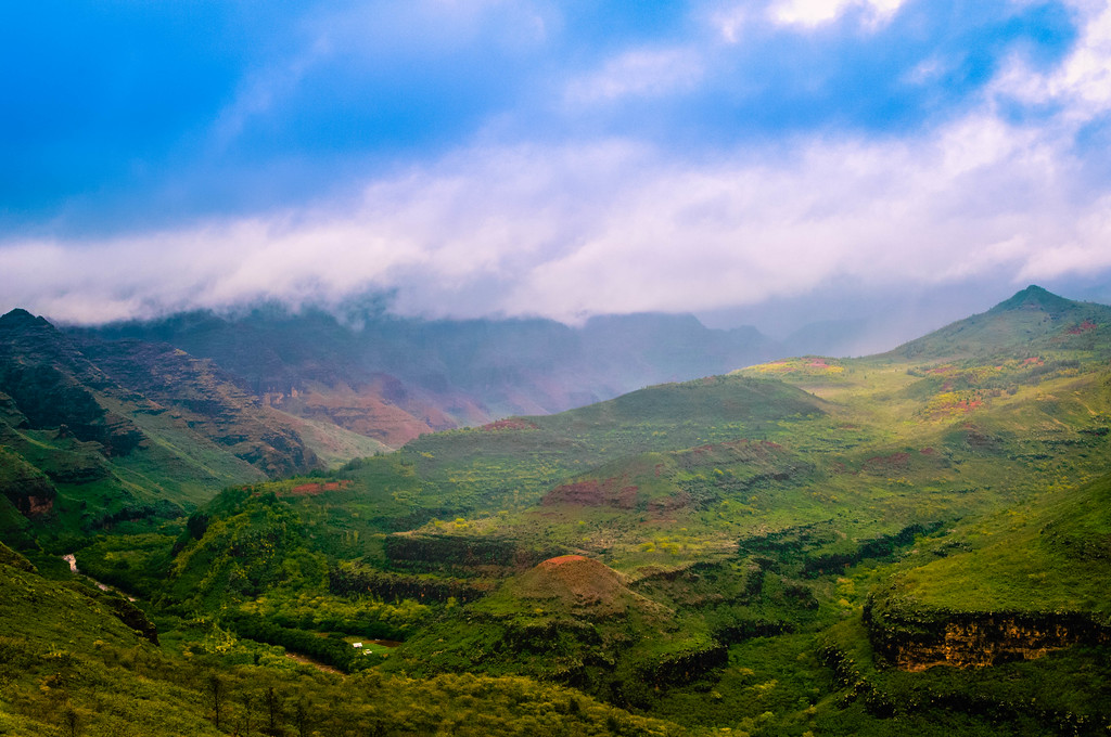 Fog Lifting from Waimea Canyon #2
