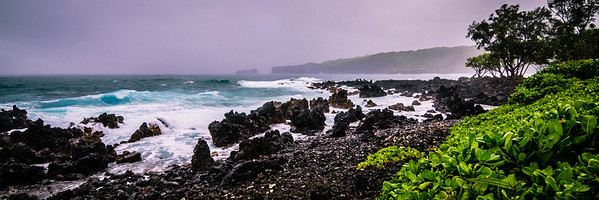 Keanae Pt. Shore Line on Rainy Day #1