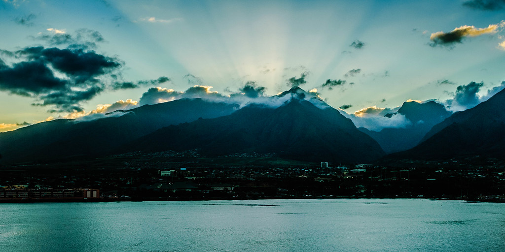 Sunsetting Over Wailuku #4