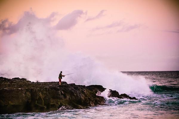Haena Beach  Fisherman #2