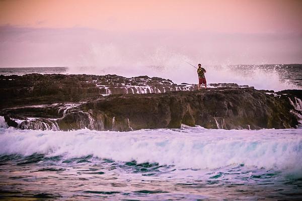 Haena Beach  Fisherman #1