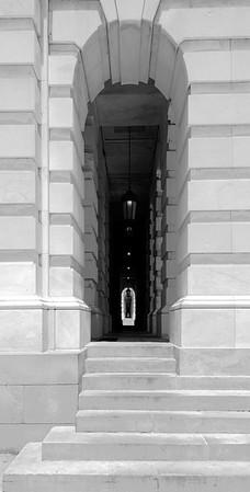 Capitol Building Passage Way, B&W