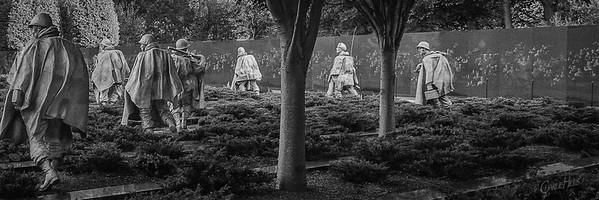 Korean War Memorial #1, B&W