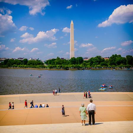 Washington Monument from Jefferson Memorial
