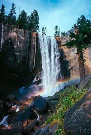 Yosemite Water Fall and Rainbow