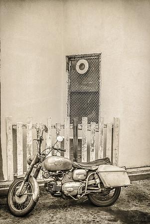 70's Vintage  Motocycle, Monochrome