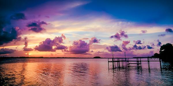 Sunset at Banana River