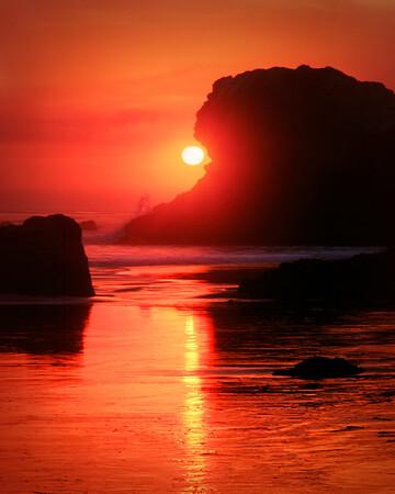 San Simeon Beach Sunset #1