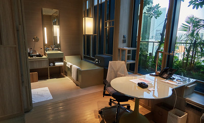 My room at the Park Royal Hotel in Singapore