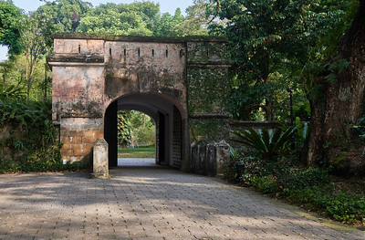 This gate is the only remains of Fort Canning. The fort was built in 1861 and torn down in 1907.