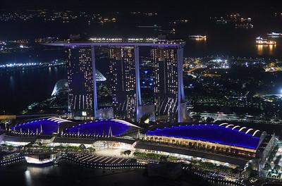 Marina Bay Hotel, seen from 1-Altitude bar