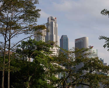The Central Business District, seen from Fort Canning Park