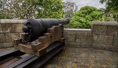 Old cannon at Fort Canning Park