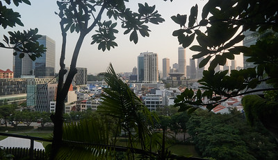 View from my room at the Park Royal Hotel in Singapore