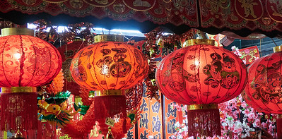 Lanterns at a stand in Chinatown Singapore