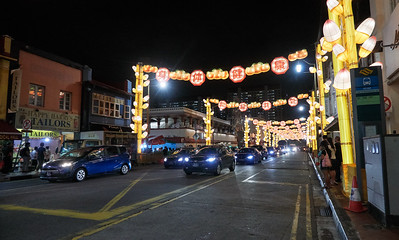 South Bridge Road, with decorations for the Chinese New Year