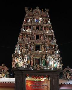 The Gopuram (entrance tower) of Sri Mariamman Temple