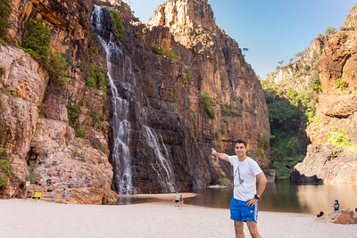 Kakadu's Number One Tourist at the Twin Falls!