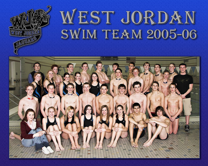 West Jordan Swim Team 2005-06 (8x10 or 16x20)