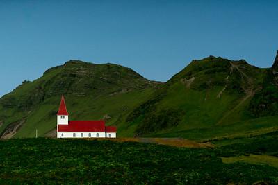 A church in Iceland near the coast.