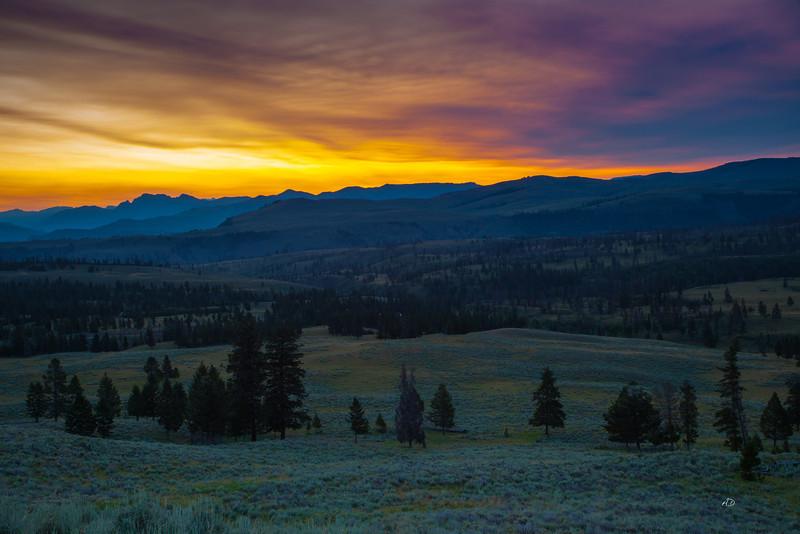 Sunset in Yellowstone