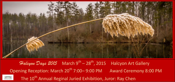 "My image titled ""Frost Kissed"" was chosen to be publised on the Halcyon Days postcard publicizing this event."