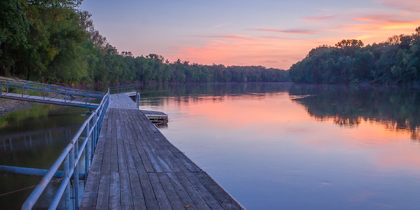 Calm Sunset, Fairbanks Park, Terre Haute, IN, Vigo County