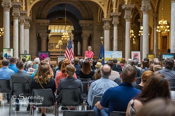 Lieutenant Governor Suzanne Crouch speaking.