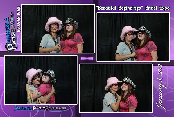 Our photo booth at the Coastal Weddings Bridal Expo 1-8-2012
