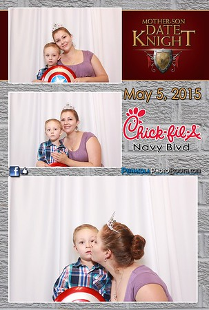 Chick-Fil-A Navy Blvy Mother/Son Knight 5-26-2015