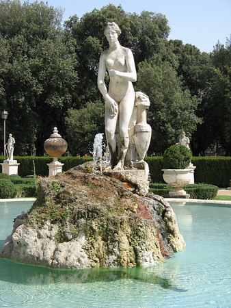 in the gardens surrounding the Galleria Borghese | Rome, Italy