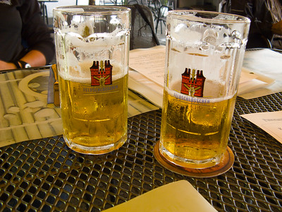 Our first beers of the day | Arbon, Switzerland