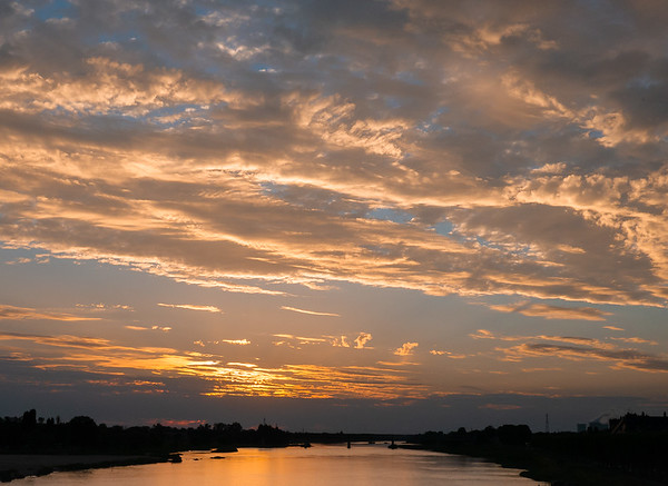 Sunset over the Loire | Gien, Centre France