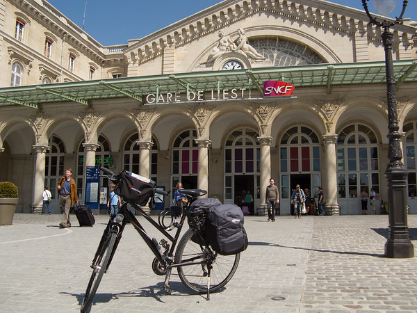 In front of the Gare de l'est, ready to head across Paris | Paris, Île-de-France France