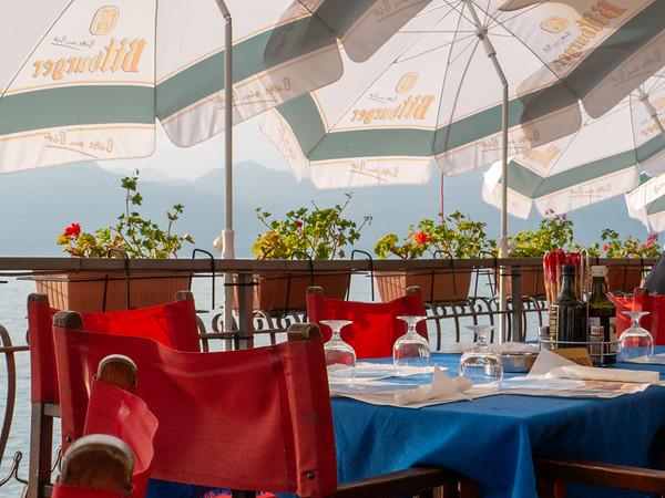 Our view from dinner | Torri del Benaco, Veneto, Italy