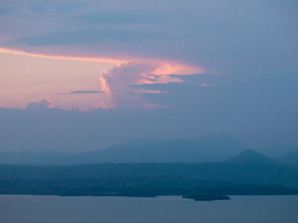 Sunset from the deck | Torri del Benaco, Veneto, Italy