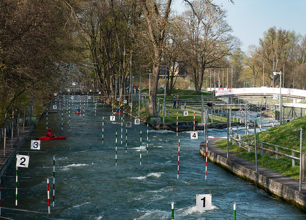 As usual, we stopped at the Eiskanal to watch the kayakers | Augsburg, Bayern Deutschland
