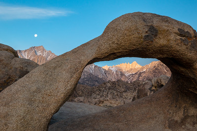 Lone Pine Peak and Mt Whitney through Mobius Arch, Alabama Hills, Lone Pine, CA