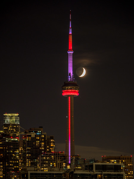 CN Tower and the moon