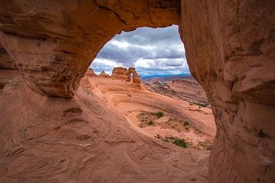 Delicate Arch through Twisted Doughnut Arch, Arches NP, UT