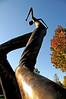The tall man in Benson Sculpture Garden
