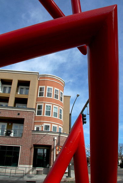 Lincoln Place and Red Sculpture
