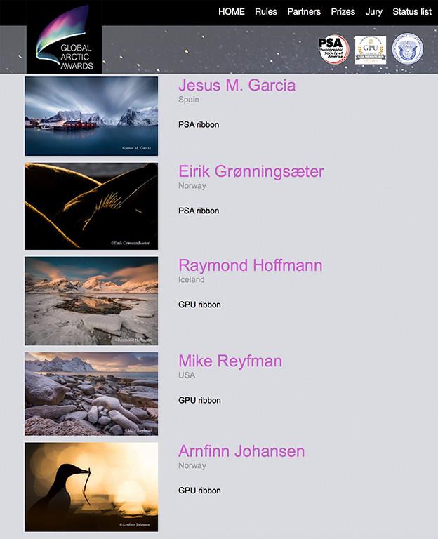 jesus m garcia global arctic awards