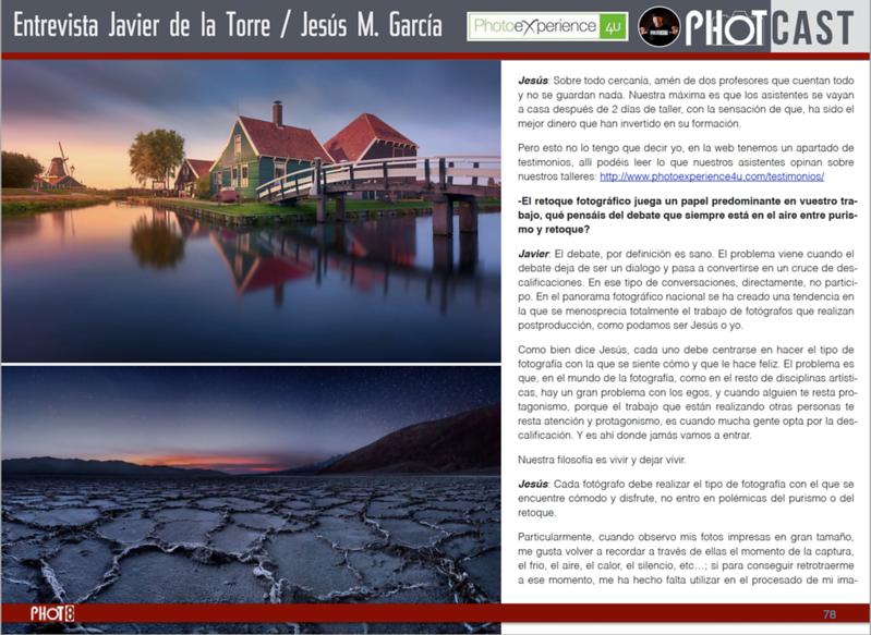 Phot Magazine entrevista Jesus M. Garcia y Javier de la Torre