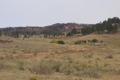 This photo from September 23, 2012, shows how close the fire came to Jackie Musgrove's ranch headquarters. She was twice told to evacuate. The second time all escape routes were blocked. (Jackie Musgrove photo)