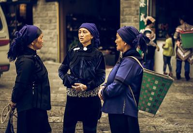 Hani au marché de Xinjie